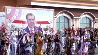 Airport reception for Tajik President Emomali Rahmon