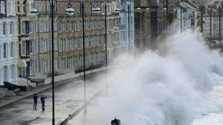 Aberystwyth seafront was hit by storms in 2014