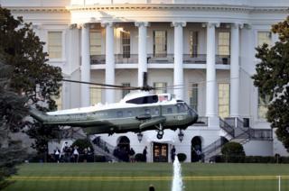 Marine One at White House