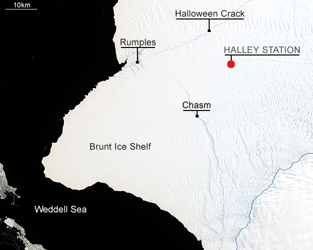 Map of Brunt Ice Shelf