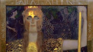 Palas Atenea, 1898, de Gustav Klimt 1862-1918