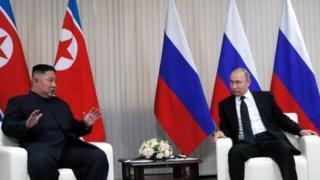 Vladimir Putin ve Kim Jong-un