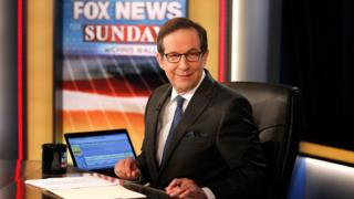 """Chris Wallace awaiting the arrival of former Vice President Al Gore on the set of """"Fox News Sunday with Chris Wallace"""" at FOX News D.C. Bureau on June 4, 2017"""