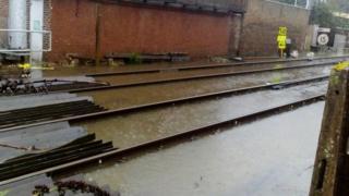 Flooding on rail tracks