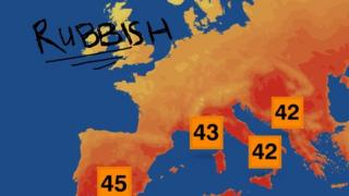 BBC weather map modified