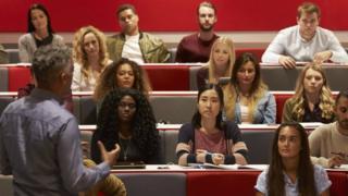 Stock photo of university students