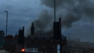 Fire at Derby Hippodrome