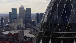 View of the City of London skyline
