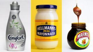 Comfort, Hellmans and Marmite