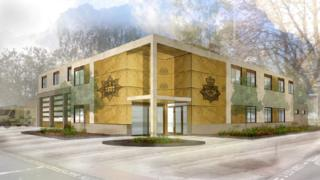 Artist's impression of joint police and fire station