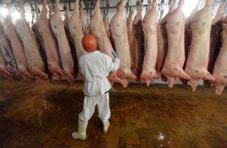 Свиньи на бойне