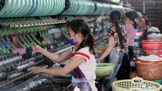 Fábrica de tejidos en Dalat, Vietnam.