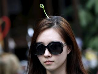 Woman wears sprout