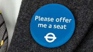 "TfL's ""Please offer me a seat badge"""