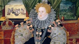 Портрет Елизаветы I после разгрома Испанской армады.