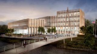 An artist's impression of the planned new headquarters