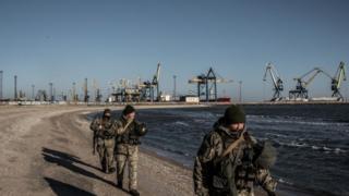 Ukrainian soldiers in Mariupol