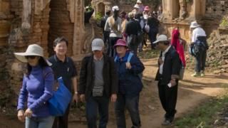 ရှမ်းပြည်နယ်ကို ရောက်လာတဲ့ တရုတ်ခရီးသွားတွေ