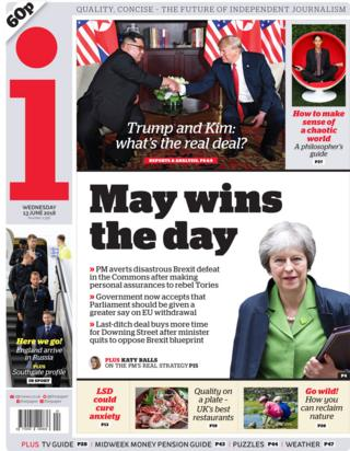 the i paper front page
