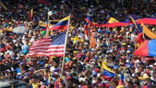Protesto contra Maduro em Maracaibo, Venezuela