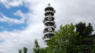 Purdown radio mast