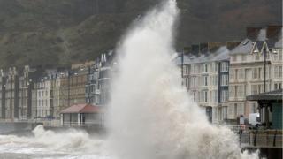 Big waves at Aberystwyth