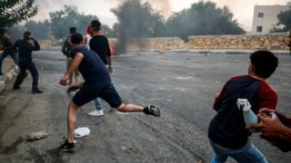 درگیری فلسطینیها با نیروهای اسرائیلی در روز جمعه