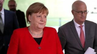 Angela Merkel on 6 May