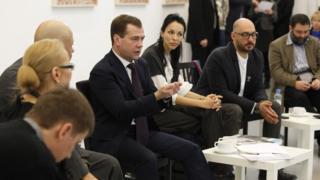Дмитрий Медведев и Кирилл Серебренников