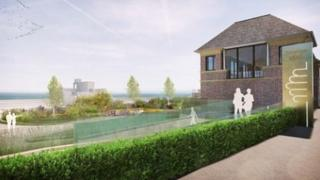 Artist's impression of how the refurbished Grange Lido will look