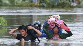 သြဂုတ်လအတွင်း မွန်ပြည်နယ်က ရေကြီးမှုမြင်ကွင်း