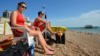 Lifeguards on beach
