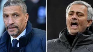 Kociyan Brighton Chris Hughton da na Manchester United Jose Mourinho