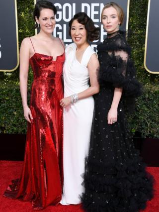 Phoebe Waller Bridge, Sandra Oh and Jodie Comer