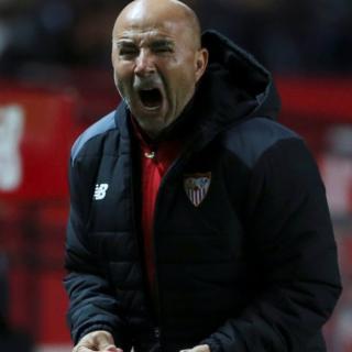 Jorge Sampaoli celebra un gol