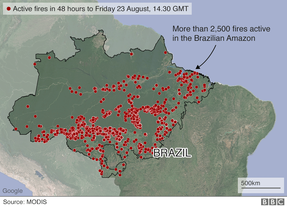 Amazon fires: Brazil sends army to help tackle blazes