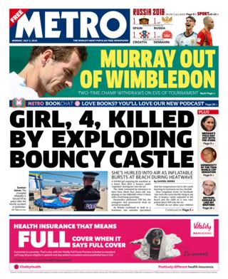 Metro front page - 02/07/18