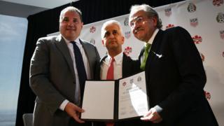 Presidentes de las federaciones de Canadá, Estados Unidos y México