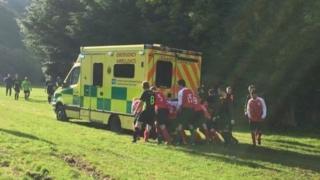 Ambulance stuck in