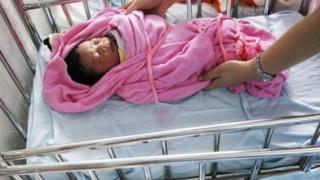 Girl baby in China