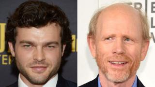 Alden Ehrenreich and Ron Howard
