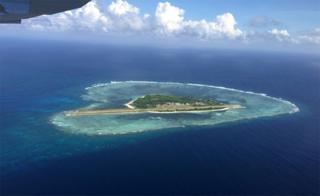 Pagasa island in the South China Sea