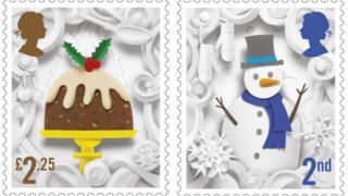 Christmas pudding and snowman
