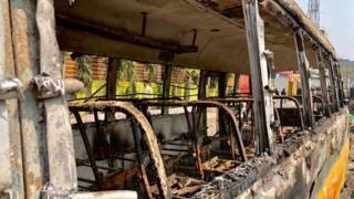Сожженный автобус