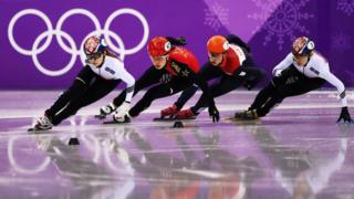 Sukhee Shim of Korea competes during the Short Track Speed Skating - PyeongChang 2018