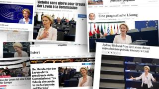 Selection of Europe's front pages