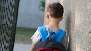 Back of schoolboy's head