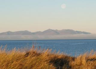 view across to Arran