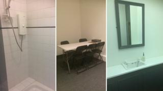 Three pictures from inside the Safe Space centre in Northampton.
