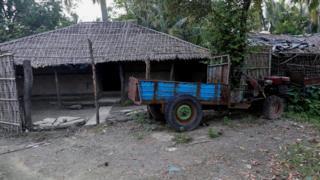Rumah warga Rohingya
